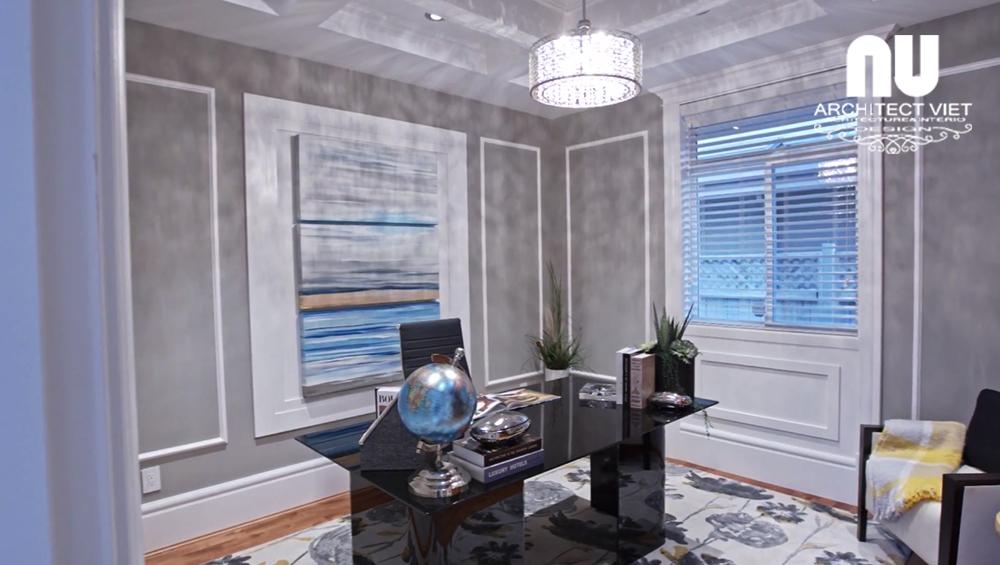 thiết kế phòng làm việc tại nhà trong biệt thự vinhomes green bay