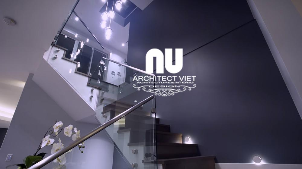 thiết kế cầu thang cho biệt thự hiện đại