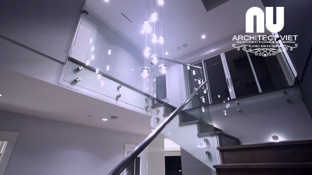 mẫu cầu thang đẹp cho biệt thự