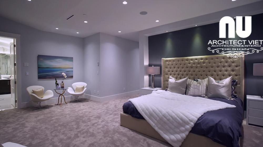 thiết kế nội thất phòng ngủ biệt thự hiện đại ở kđt văn khê