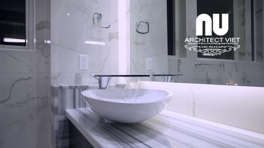 thiết kế nội thất phòng tắm trong biệt thự hiện đại