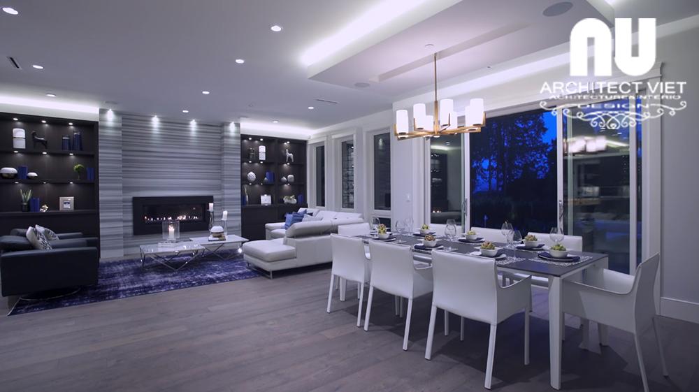 Thiết kế nội thất biệt thự hiện đại KĐT Văn Khê - khu vực ăn uống