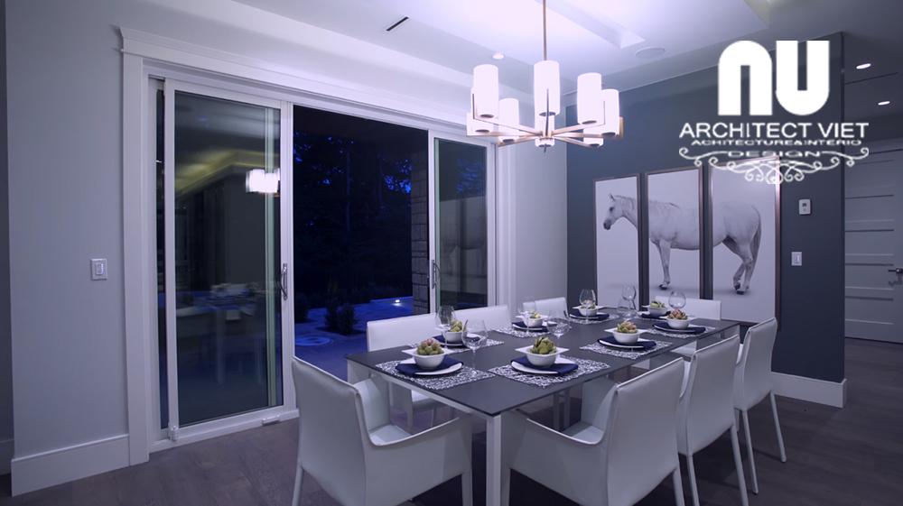 Thiết kế nội thất biệt thự hiện đại KĐT Văn Khê - không gian phòng ăn hiện đại