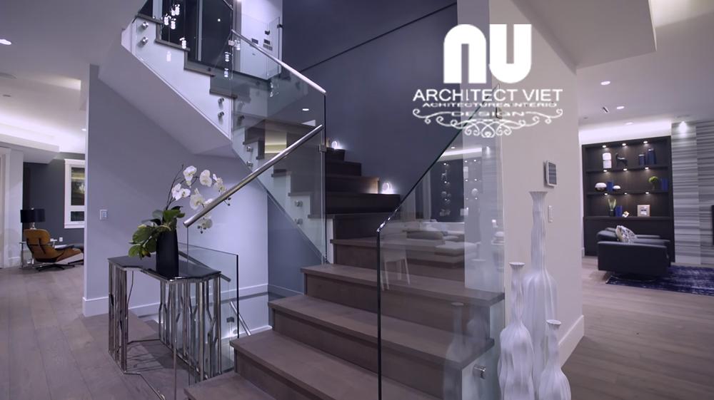 cầu thang được thiết kế hiện đại