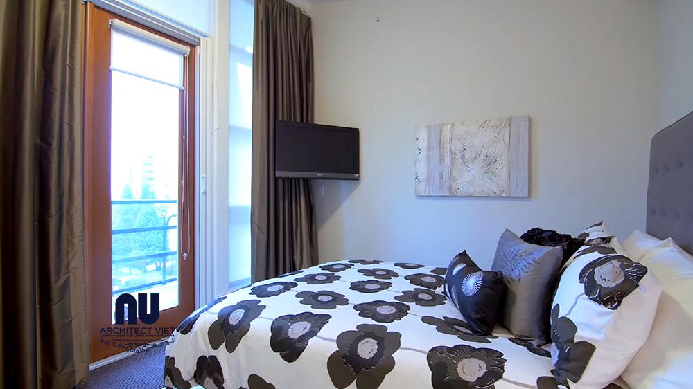 hình ảnh phòng ngủ penthouse được thiết kế thoáng rộng