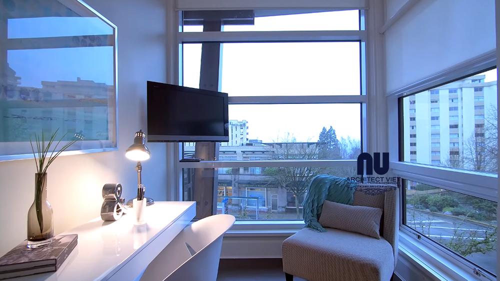 không gian thư giãn với view đẹp bên trong căn hộ penthouse