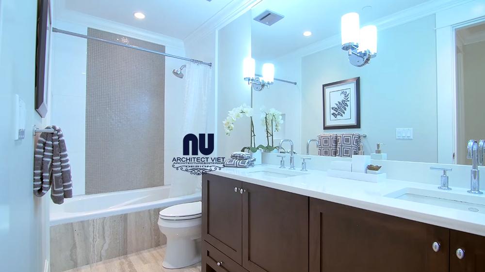 nội thất phòng tắm hiện đại trong căn hộ penthouse