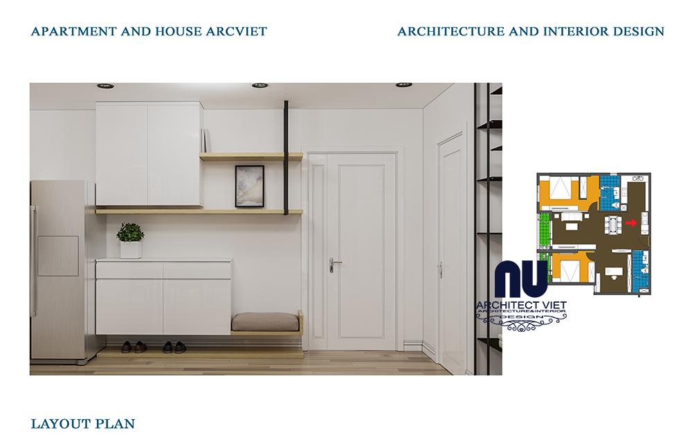 Thiết kế nội thất chung cư Goldmark 2 phòng ngủ 92m2 phong cách Bắc Âu10