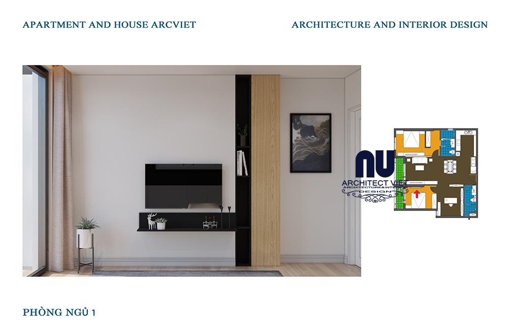 nội thất đơn giản được lựa chọn cho căn hộ chung cư 92m2