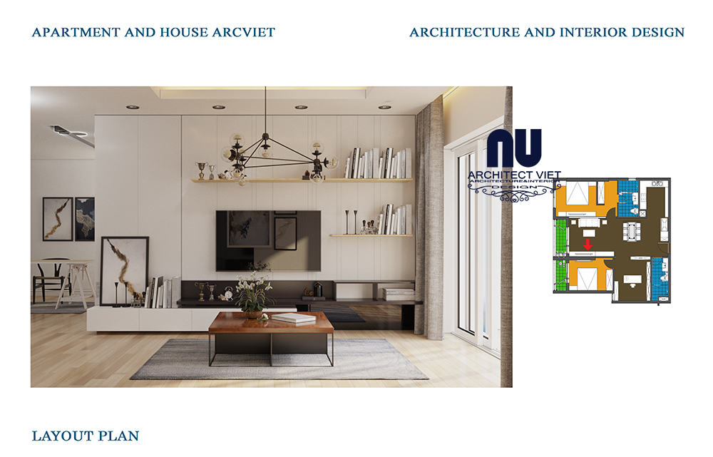 Thiết kế nội thất chung cư Goldmark 2 phòng ngủ 92m2 phong cách Bắc Âu2