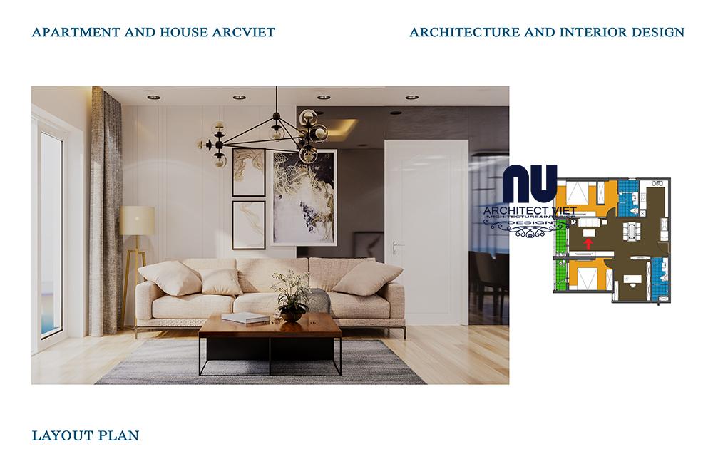 Thiết kế nội thất chung cư Goldmark 2 phòng ngủ 92m2 phong cách Bắc Âu3Thiết kế nội thất chung cư Goldmark 2 phòng ngủ 92m2 phong cách Bắc Âu3