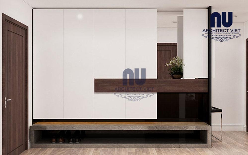 không gian nội thất hiện đại bên trong căn hộ chung cư 170m2