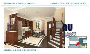 Thiết kế nội thất nhà phố 4 tầng Đội Cấn Ba Đình Hà Nội 2