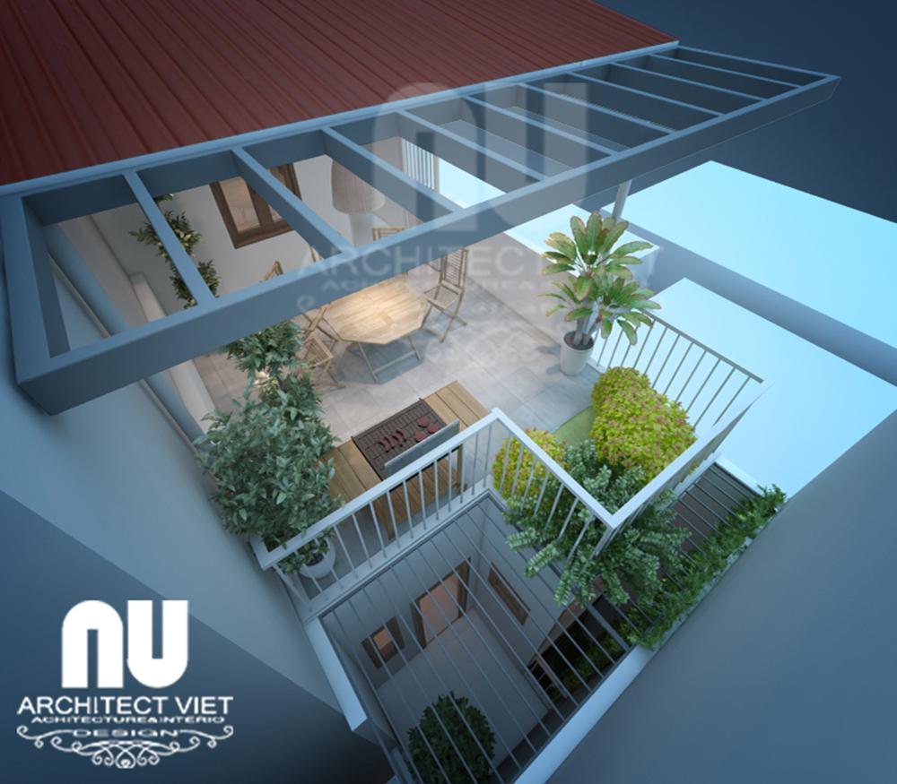 Mẫu thiết kế nhà 30m2 4 tầng
