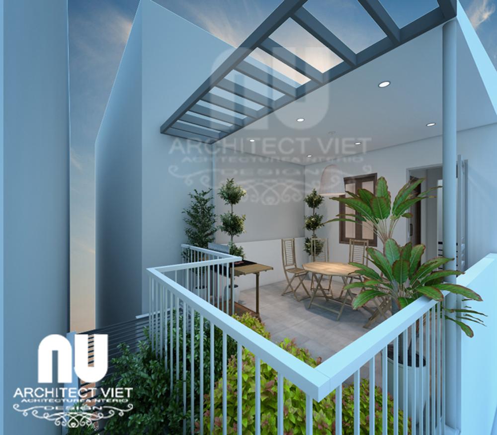 Thiết kế nhà 4 tầng 30m2