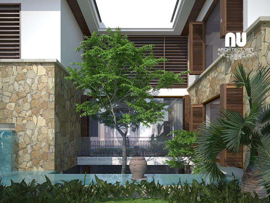 Mẫu biệt thự 3 tầng đẹp có sân vườn bể bơi3