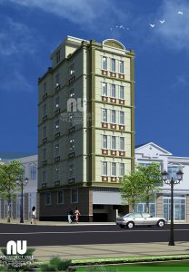 Mẫu thiết kế nhà nghỉ mini 6 tầng đẹp 95m2 32 phòng nghỉ11