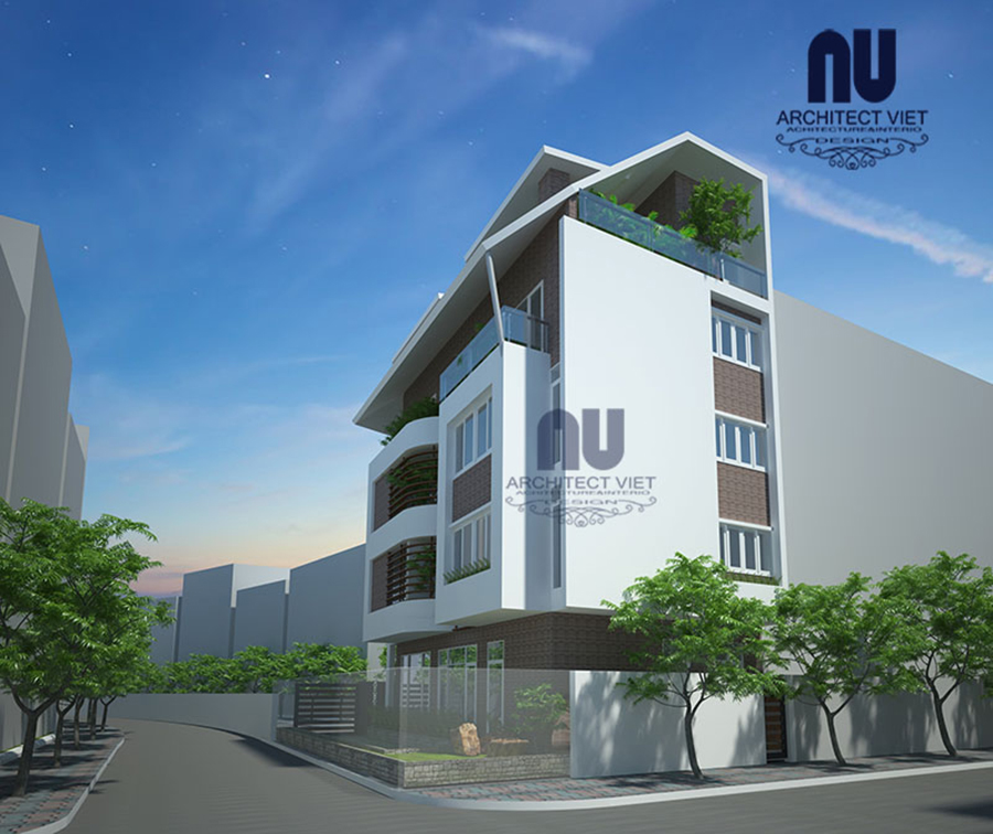 Thiết kế nhà ở 5 tầng đẹp 7x12m2
