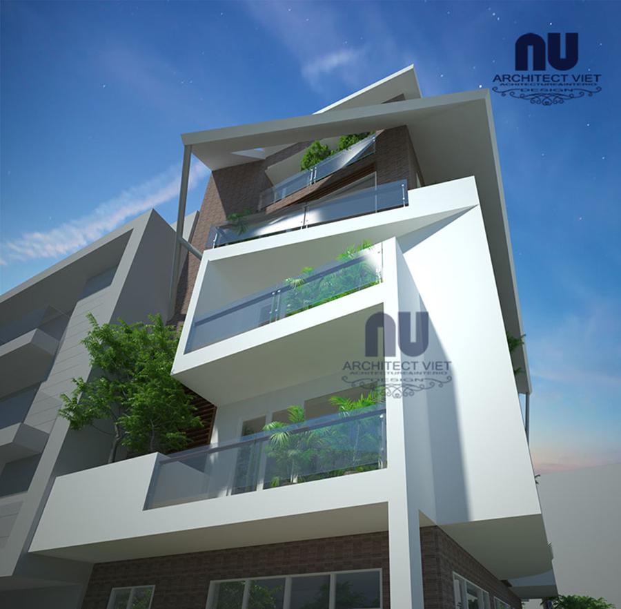 Thiết kế nhà ở 5 tầng đẹp 7x12m3