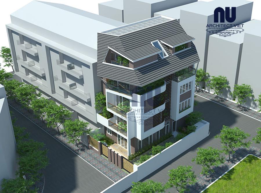 Thiết kế nhà ở 5 tầng đẹp 7x12m4