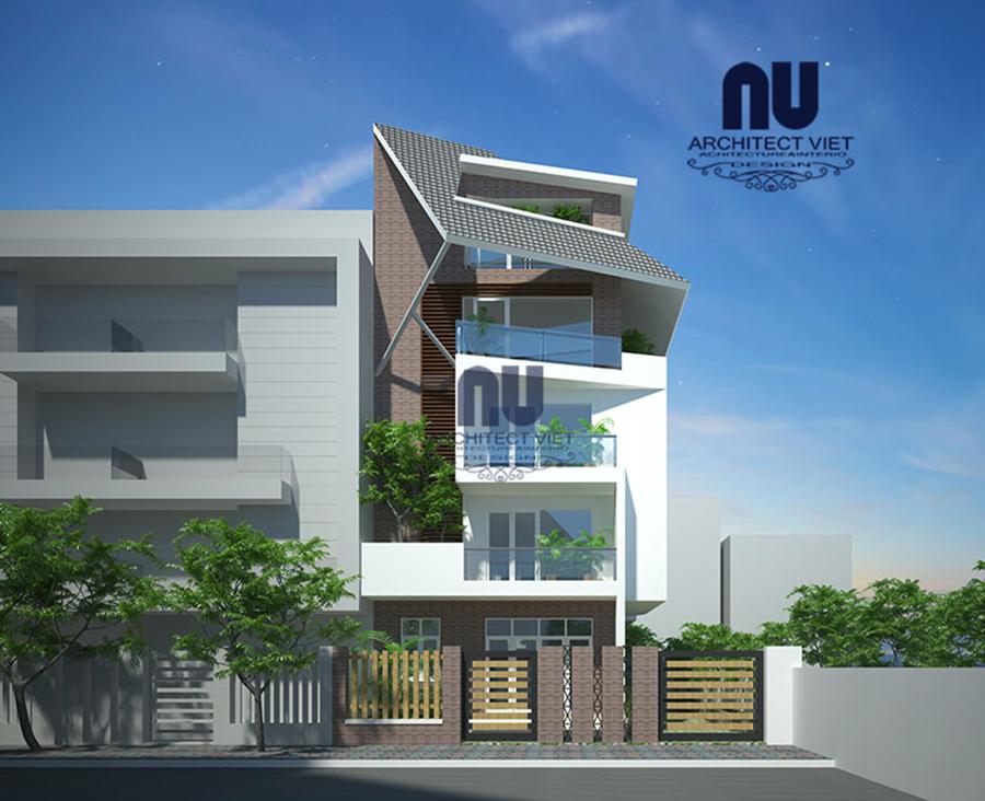 Thiết kế nhà ở 5 tầng đẹp 7x12m5