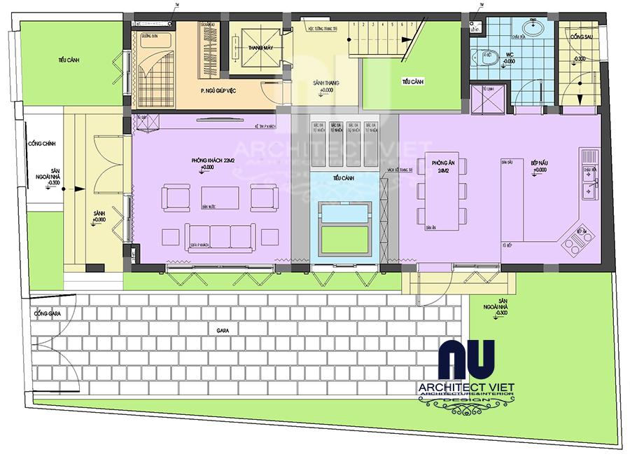 Thiết kế nhà ở 5 tầng đẹp 7x12m6