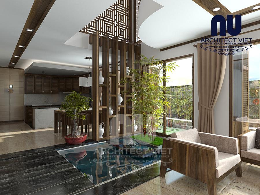 thiết kế nội thất nhà phố hiện đại 5 tầng 78m2 tại Cầu Giấy – với đồ nội thất đơn giản