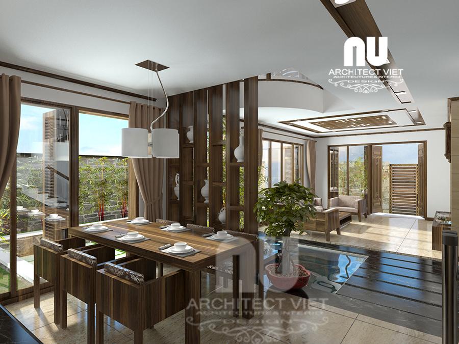 thiết kế nội thất nhà phố hiện đại 5 tầng 78m2 tại Cầu Giấy – với không gian ăn uống ngập tràn ánh sáng