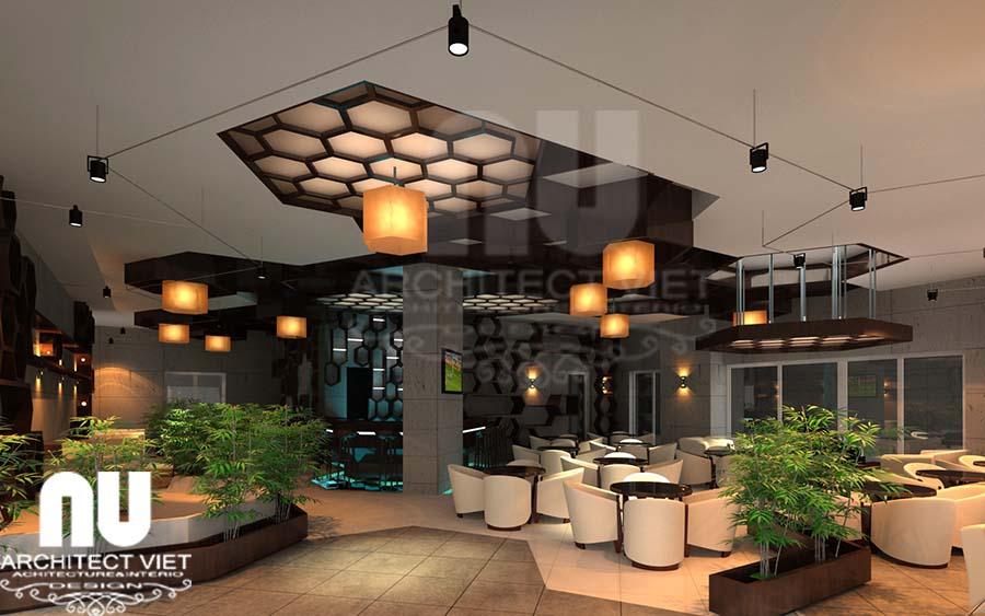 hình ảnh quán ăn nhanh kết hợp cà phê