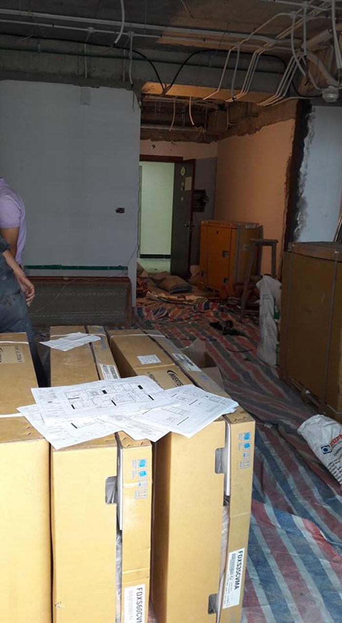 quá trình thi công nội thất chung cư