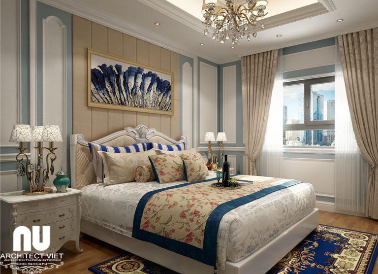 mẫu phòng ngủ tân cổ điển cho chung cư