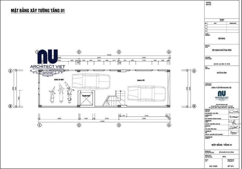thiết kế biệt thự phố 4x14m 4 tầng tân cổ điển