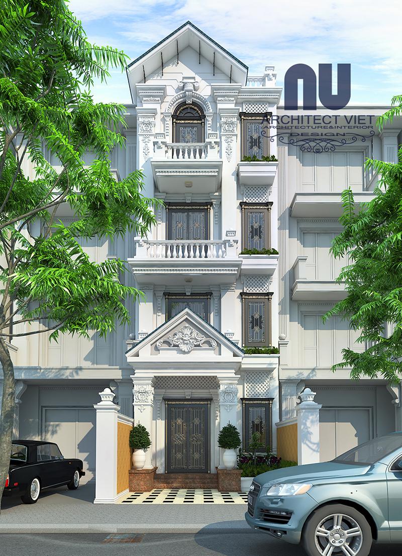 Hình ảnh cải tạo nhà phố 4 tầng theo phong cách tân cổ điển