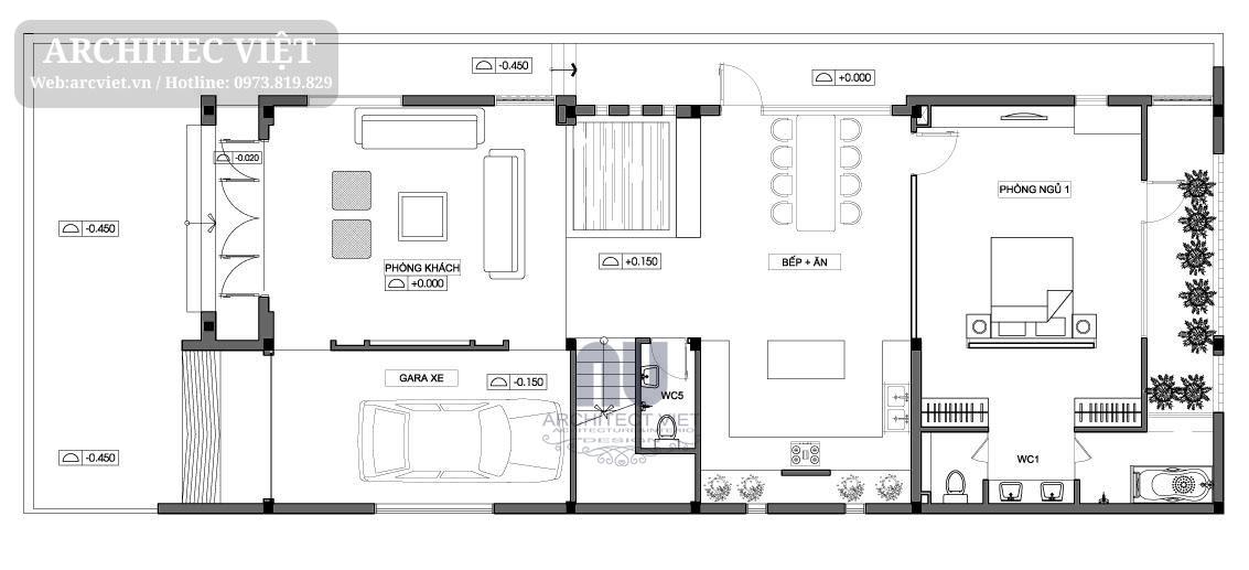 biệt thự 2 tầng 120m2 hiện đại