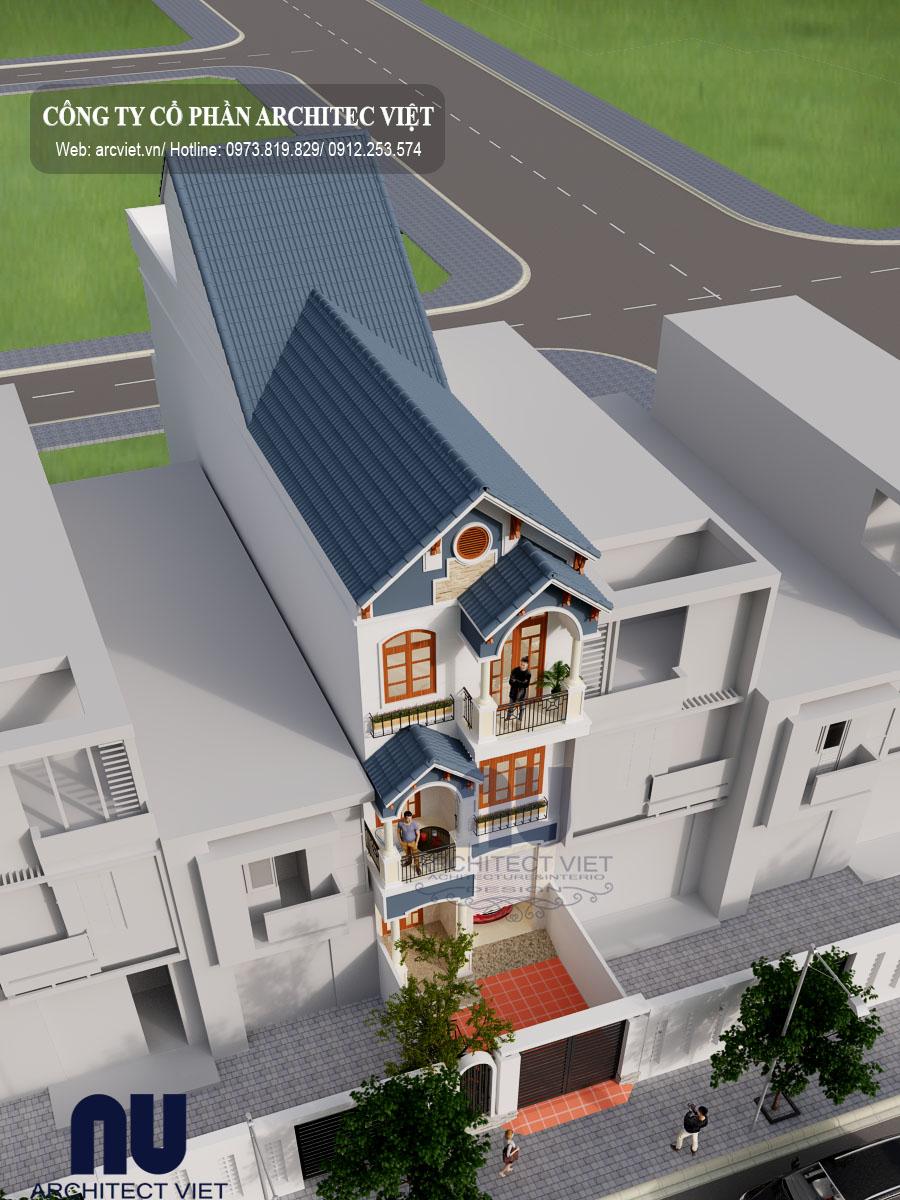 chi tiết về mẫu nhà phố 3 tầng mặt tiền 6m của gia đình anh Du