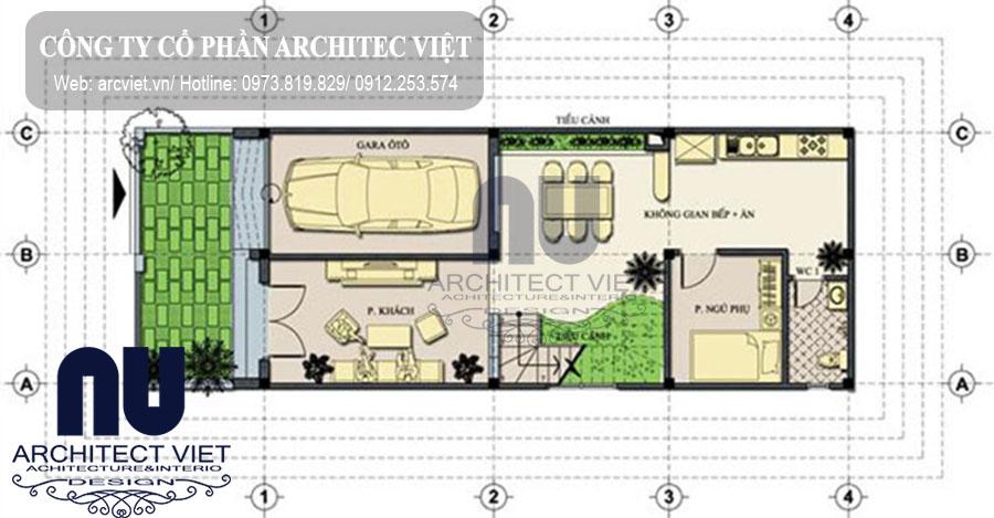 Bố trí mặt bằng công năng mẫu nhà phố 3 tầng mặt tiền 6m