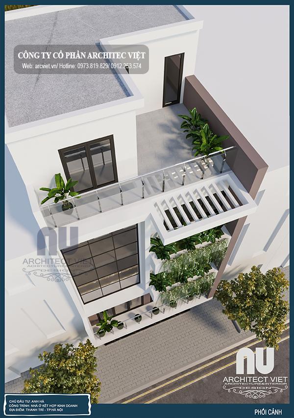 Thiết kế nhà ở kết hợp kinh doanh 5 tầng 7,5x7m