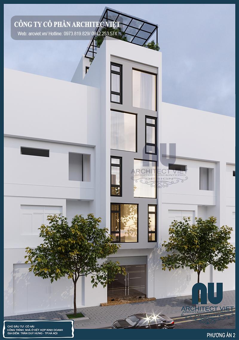 Chi phí thi công xây dựng nhà ở kết hợp kinh doanh 5 tầng 3,9x16,5m