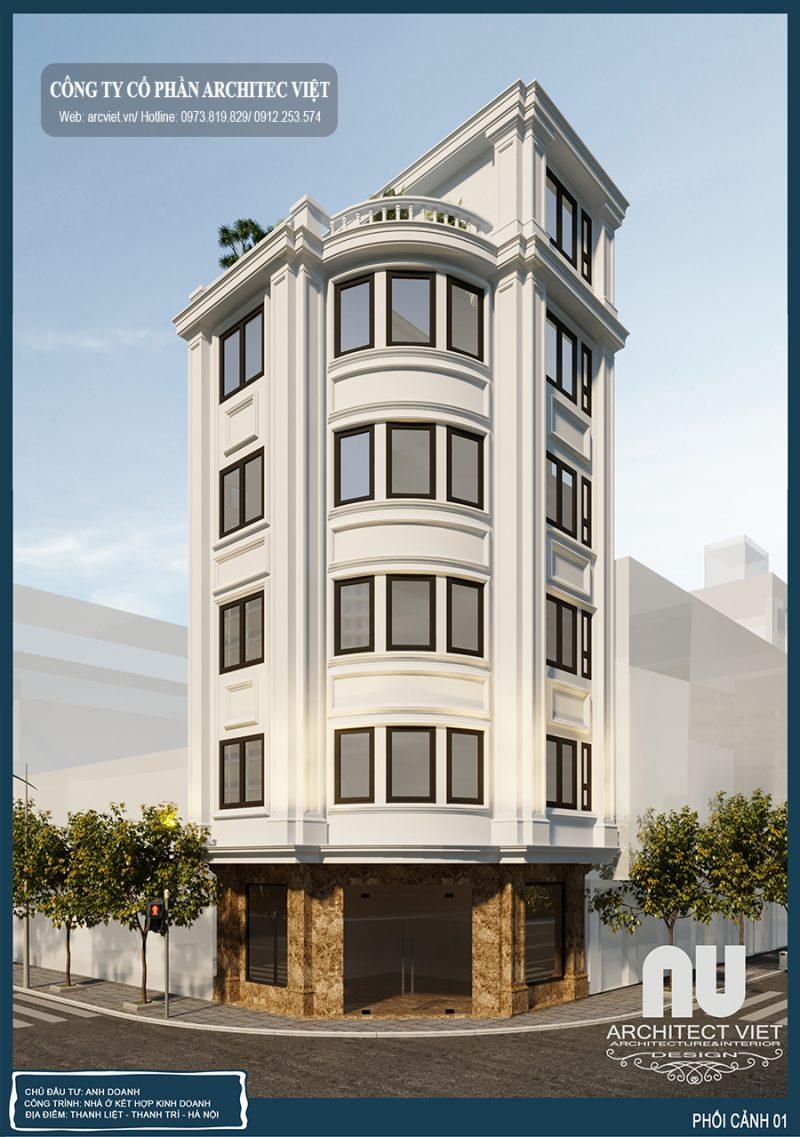 Mẫu nhà 5 tầng 2 mặt tiền