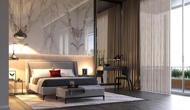 Không gian phòng ngủ hiện đại dành cho bố mẹ