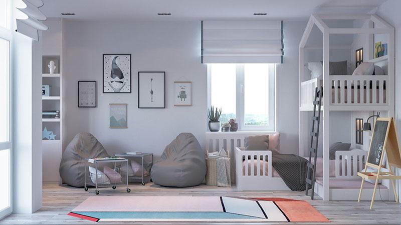 Không gian phòng ngủ cho con