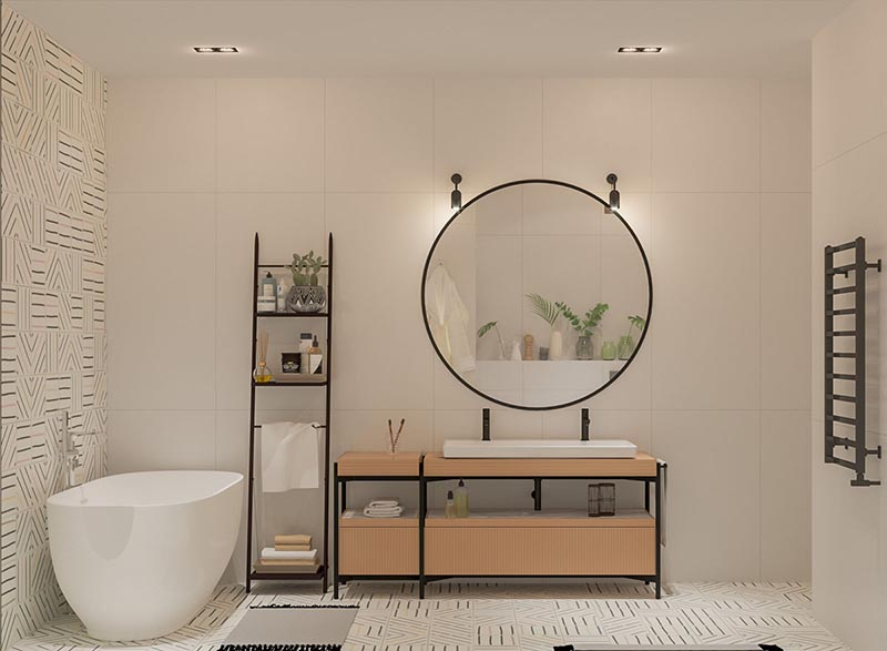 nội thất phòng tắm đơn giản hiện đại