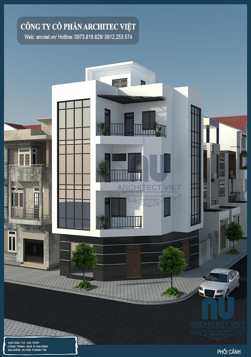 Nội ngoại thất sang trọng tinh tế của mẫu nhà phố 4 tầng 2 mặt tiền 70m2