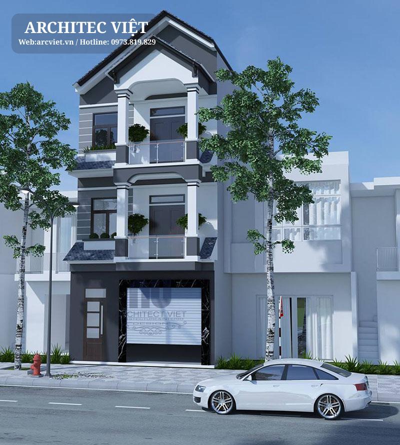 Thiết kế mẫu nhà phố 3 tầng mặt tiền 5m theo yêu cầu của gia chủ