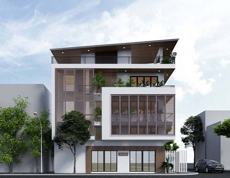 ý tưởng thiết kế nhà phố 3 tầng 1 tum 48m2