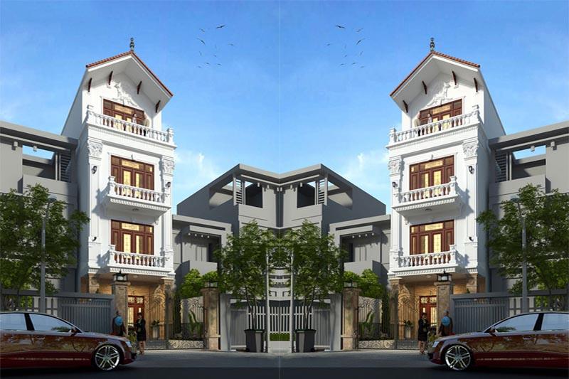 ngôi nhà phố 4 tầng mặt tiền 6m tân cổ điển nổi bật tại Hải phòng