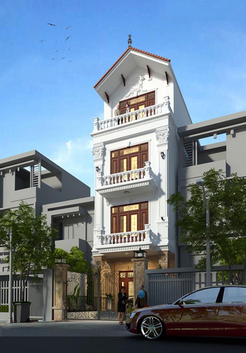 nhà phố 4 tầng mặt tiền 6m