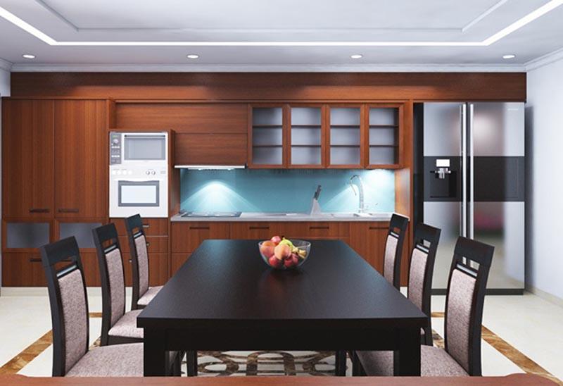 nội thất bếp và phòng ănnhà phố 4 tầng mặt tiền 6m
