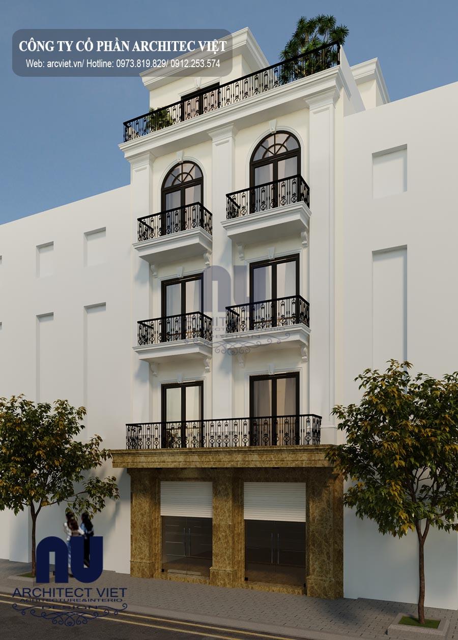 Thiết kế nhà phố 5 tầng 50m2 theo yêu cầu của gia chủ