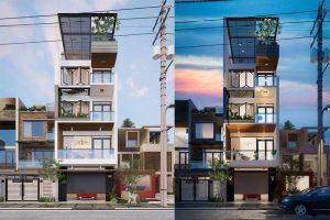Thiết kế nhà phố 5 tầng 65m2